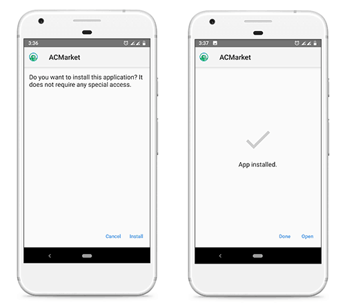 acmarket install on android